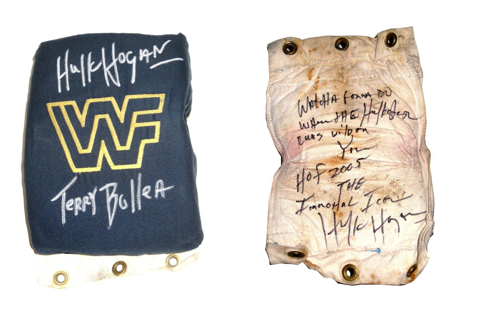 Hulk Hogan signed turnbuckle 1