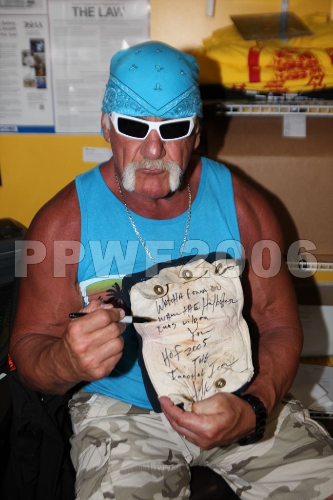 Hulk Hogan signed turnbuckle 3