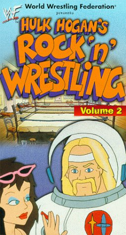 Hulk Hogan's Rock 'n' Wrestling astronaut video VHS cover