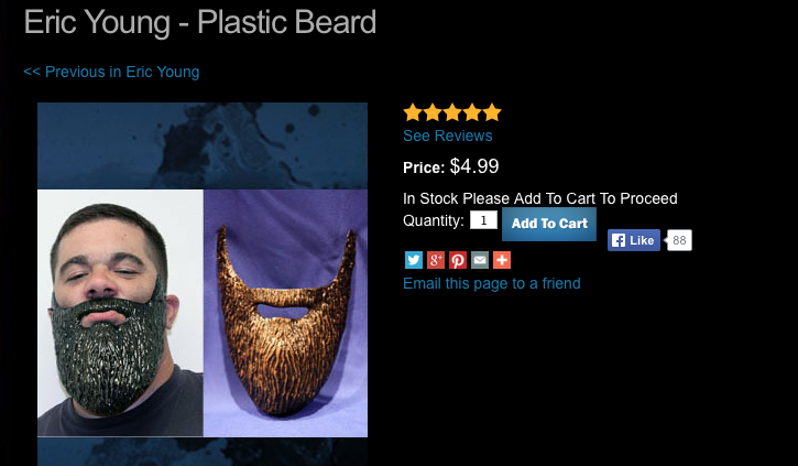 TNA Eric Young plastic beard