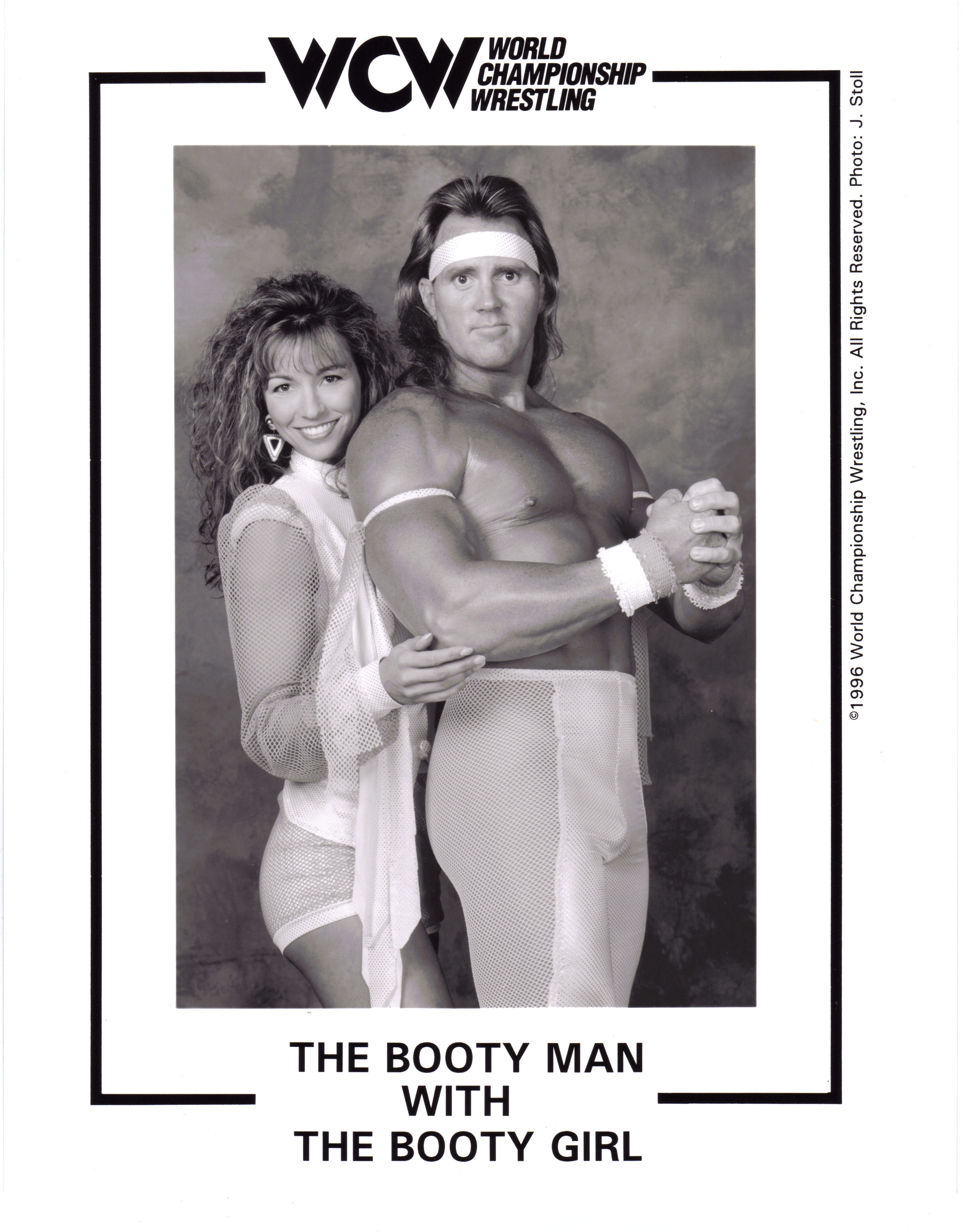 WCW The Booty Man and Booty Girl Kimberly Paige Ed Leslie 8x10 glossy promotional photo picture