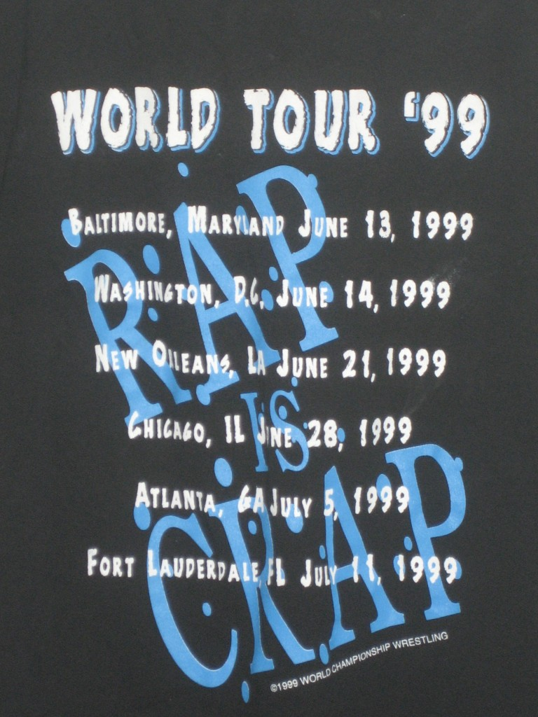 WCW West Texas Rednecks Rap Is Crap World Tour '99 shirt back