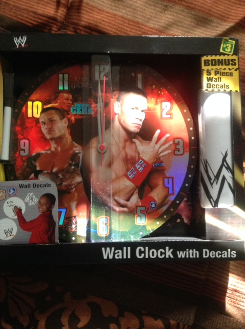 WWE Wall Clock with decals