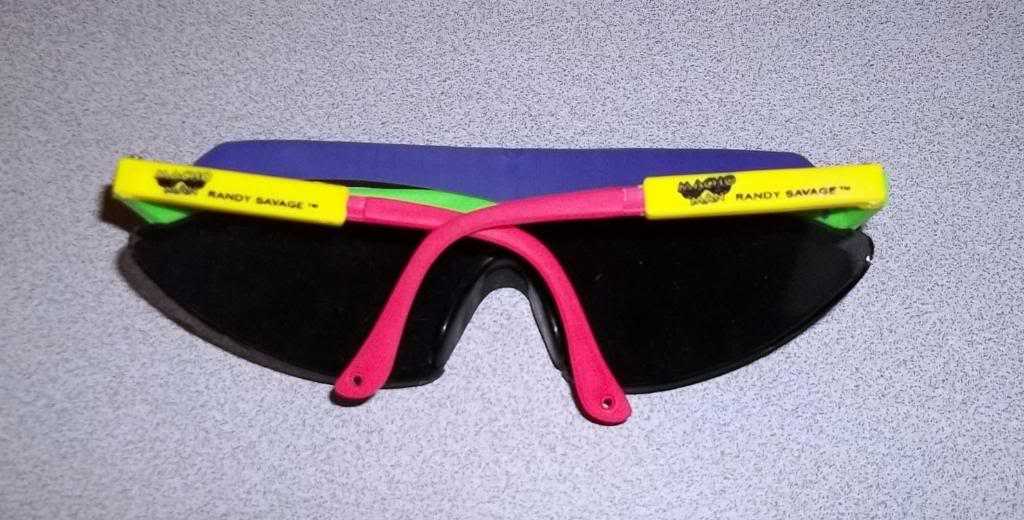 WWF 1992 Macho Man Randy Savage Sunglasses back