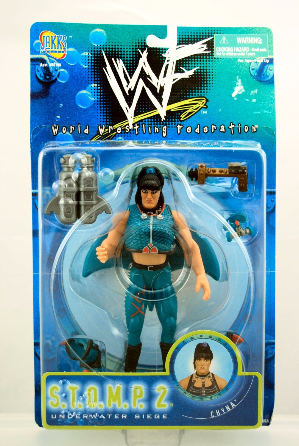 WWF Chyna Underwater Seige S.T.O.M.P figure