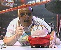 WWF Golga with Cartman doll