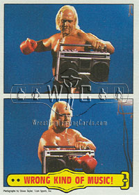 WWF Hulk Hogan Wrong Kind Of Music trading card