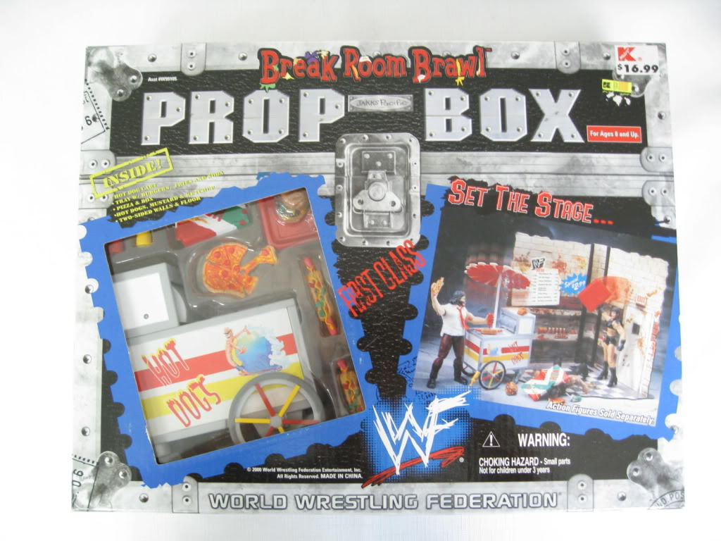 WWF Jakks Break Room Brawl Prop box