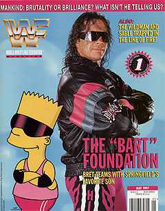WWF Magazine May 1997 Bret Hart Bart Simpson The Simposons