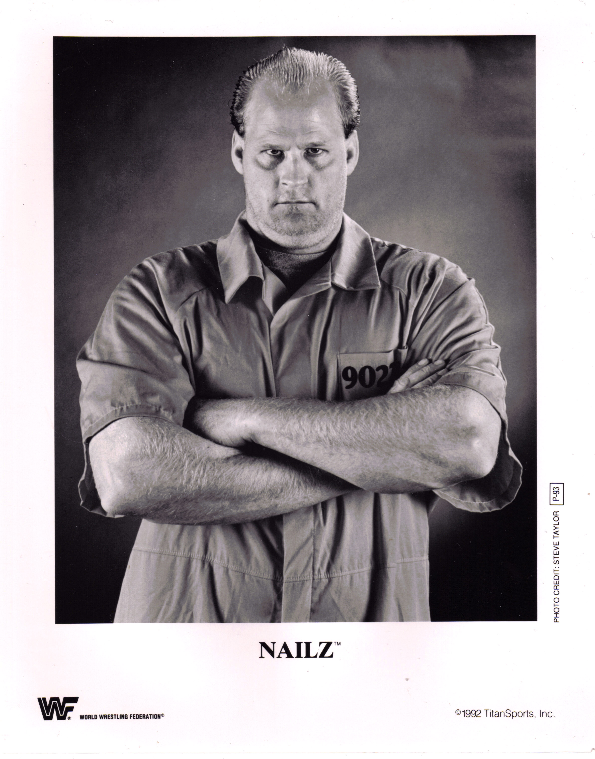 WWF Nailz 8x10 promotional photo