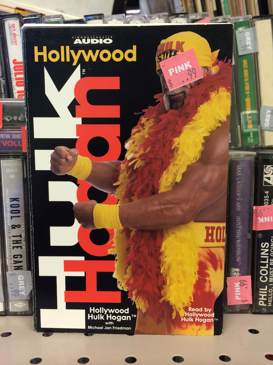Hollywood Hulk Hogan book on audio cassette book on tape