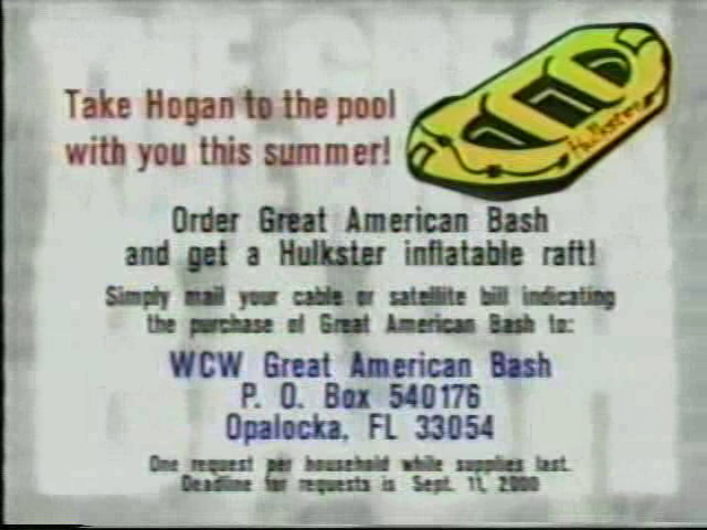 WCW Great American Bash Hulk Hogan Inflatable Raft offer