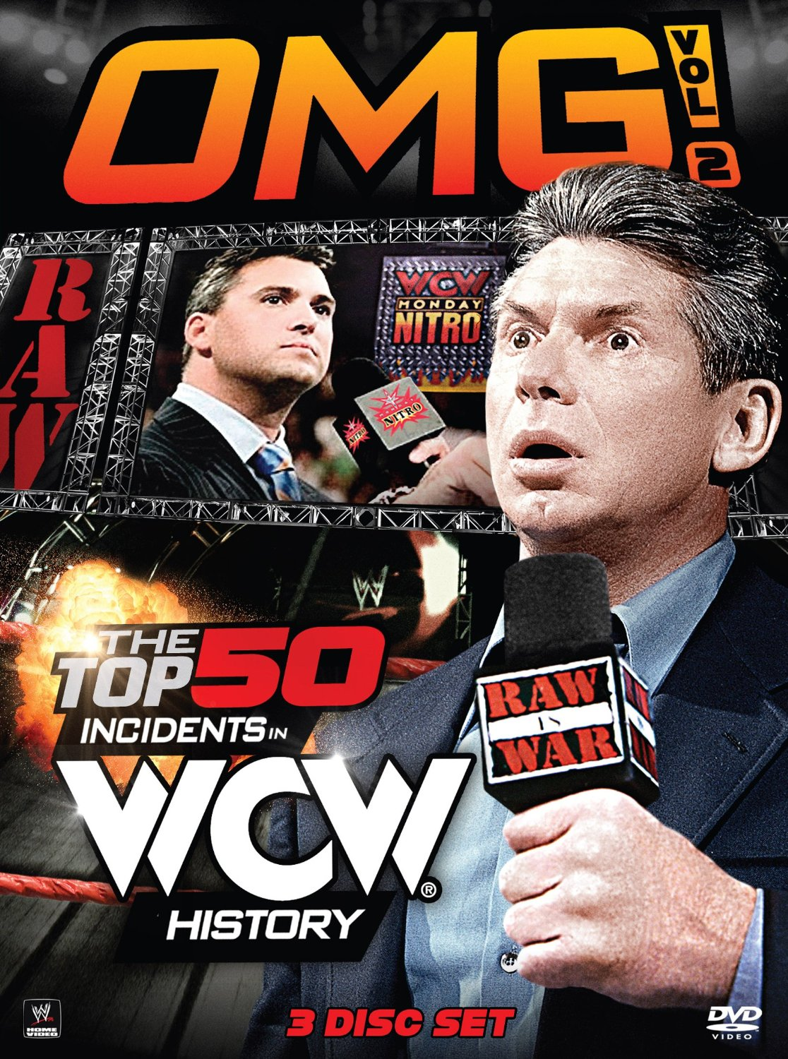 WWE OMG Top 50 Incidents in WCW History Volume 2 DVD cover Vince McMahon Shane McMahon