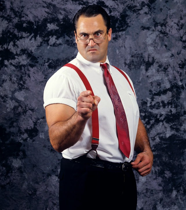 WWF I.R.S IRS Mike Rotunda Rotundo promotional photo pointing