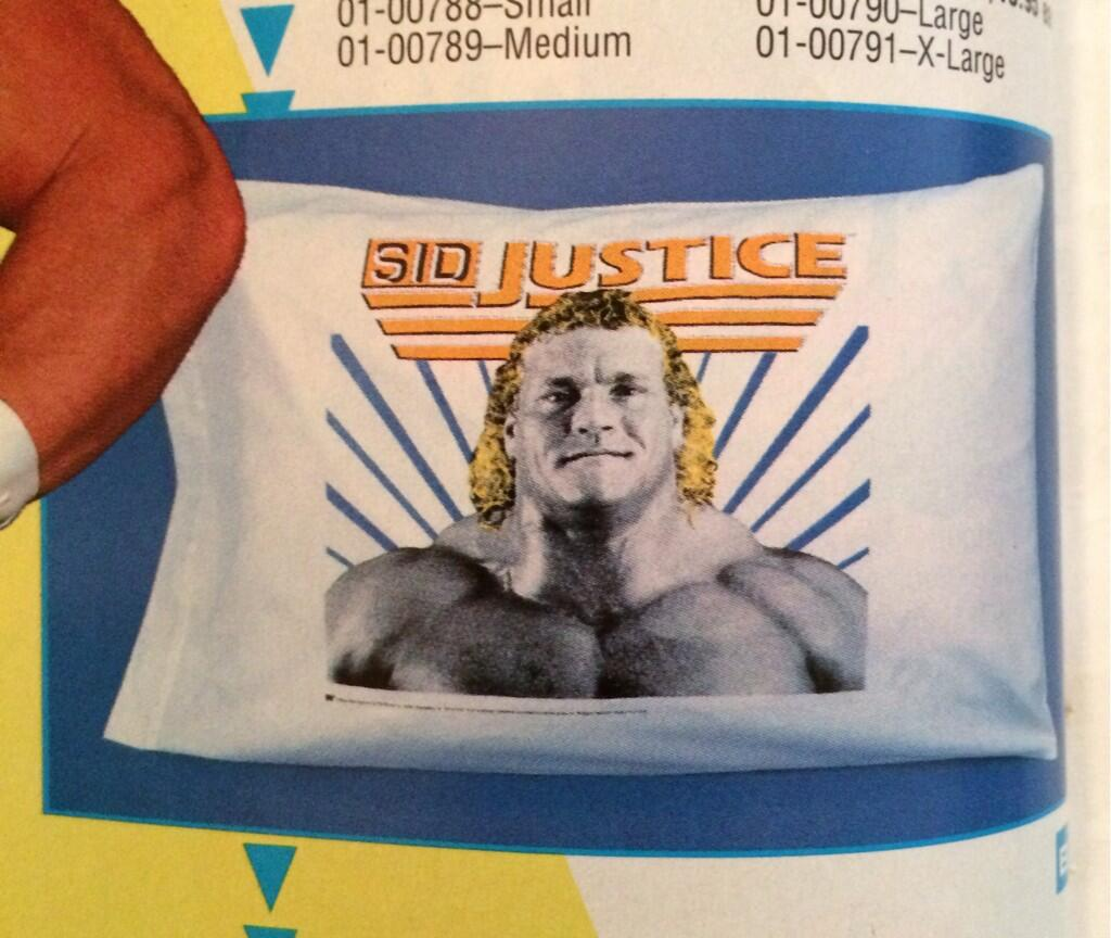 WWF Spring:Summer 1992 catalog Sid Justice pillow case