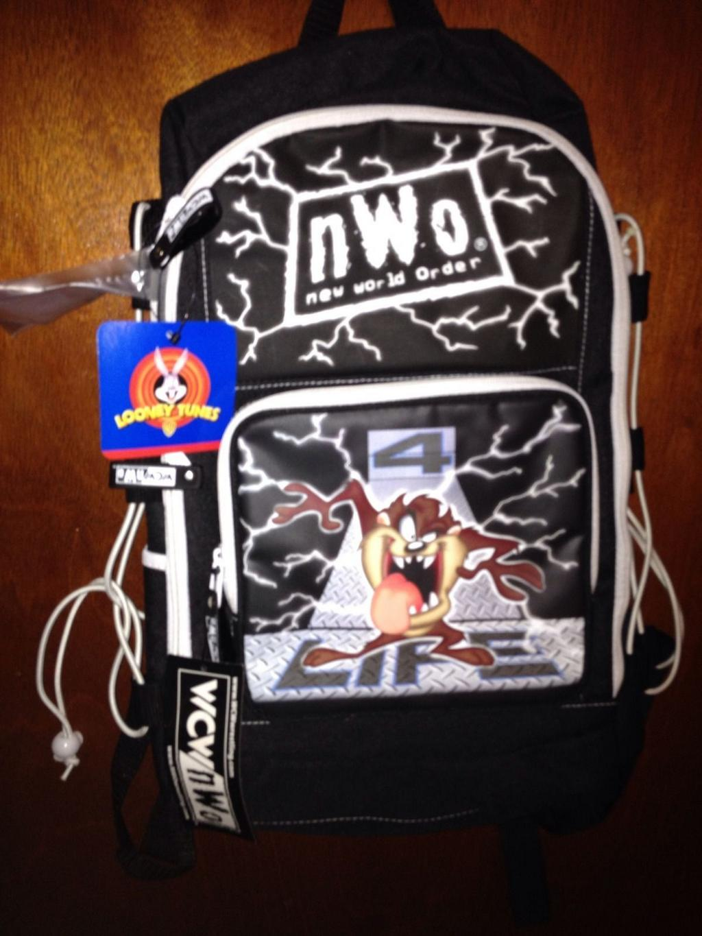 NWO black and white Looney Tunes Taz backpack