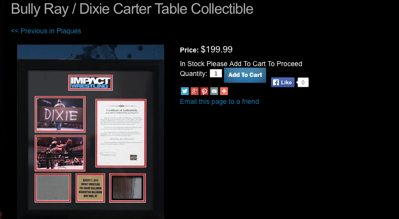 TNA Dixie Carter table piece