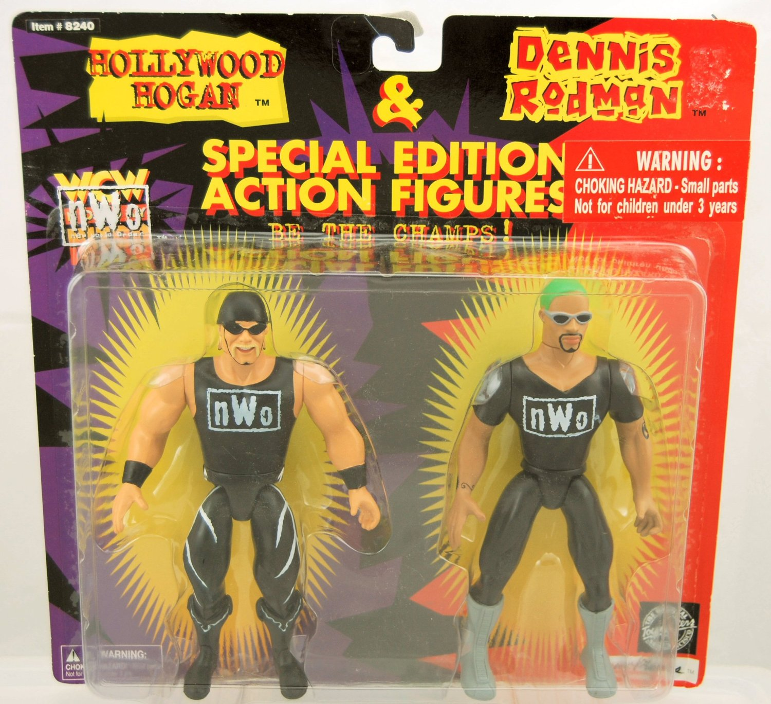 WCW NWO Dennis Rodman and Hollywood Hogan figures