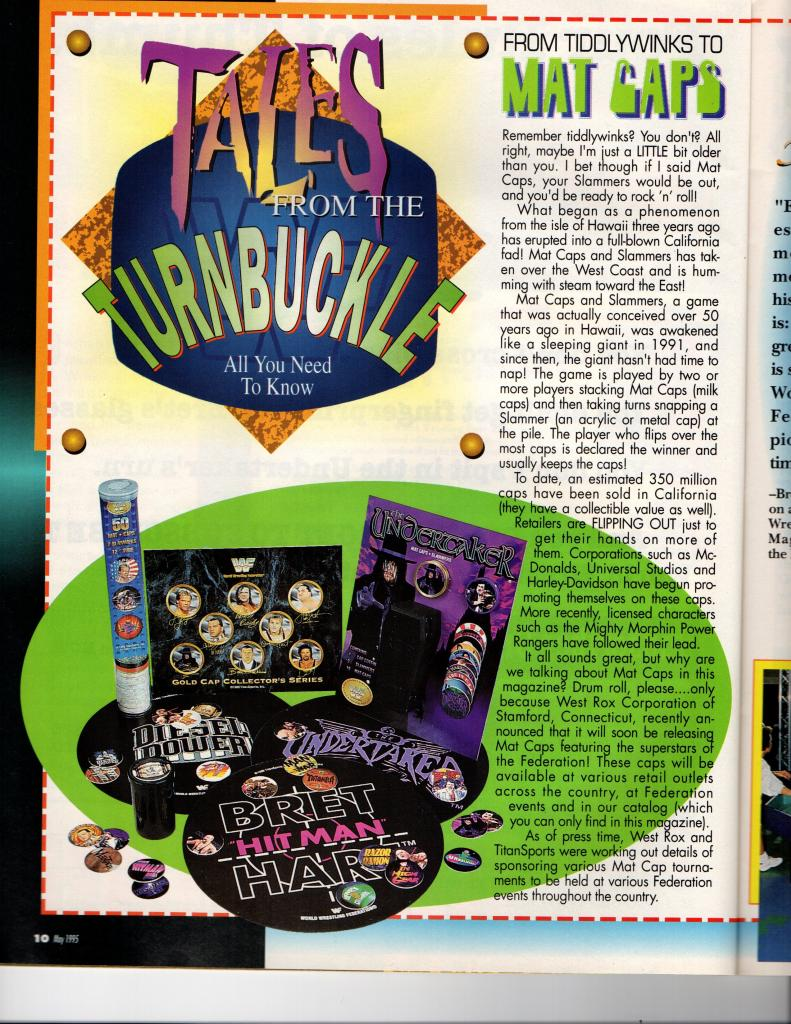 WWF Pogs article May 1995 WWF Magazine