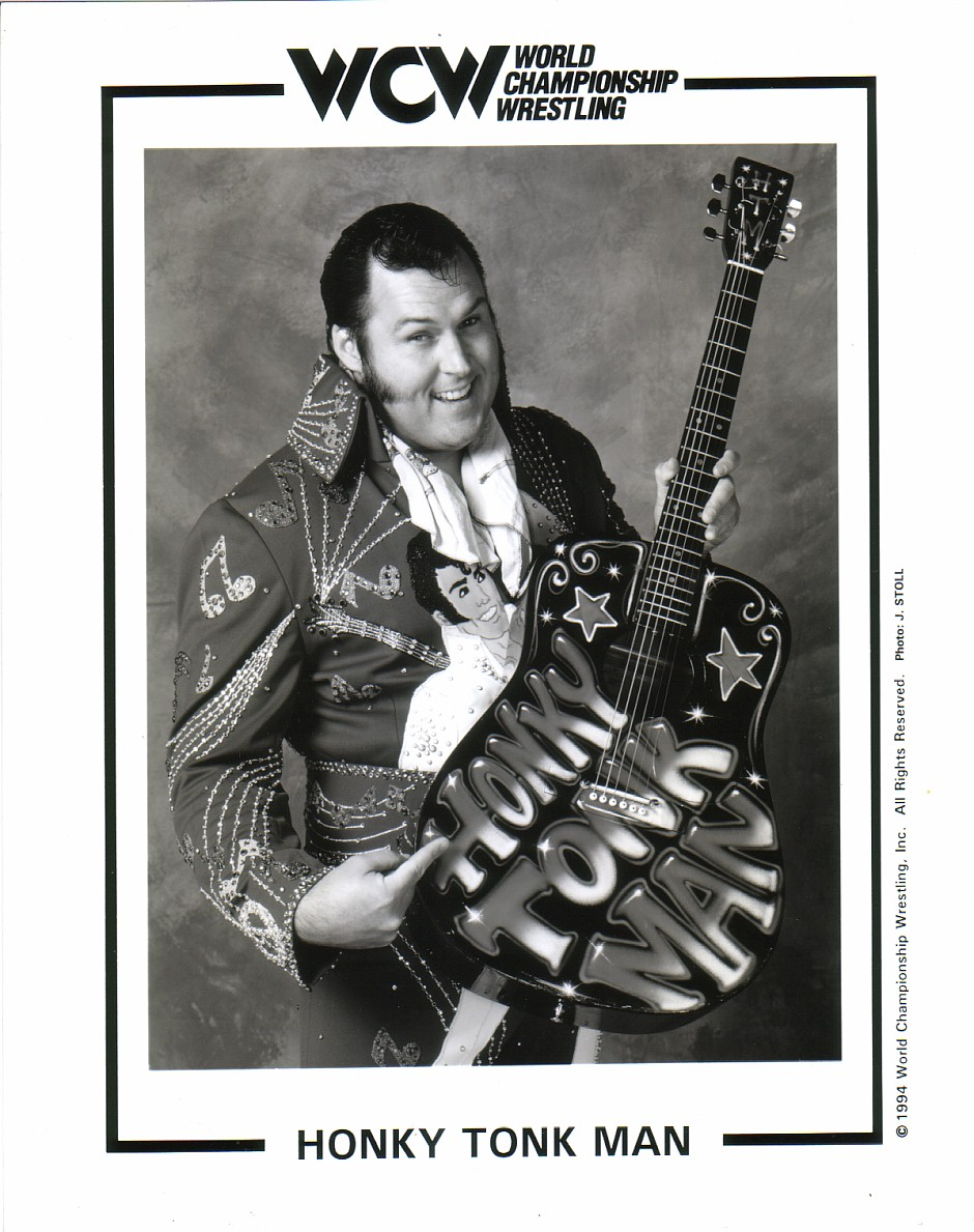 WCW Honky Tonk Man glossy promotional photo