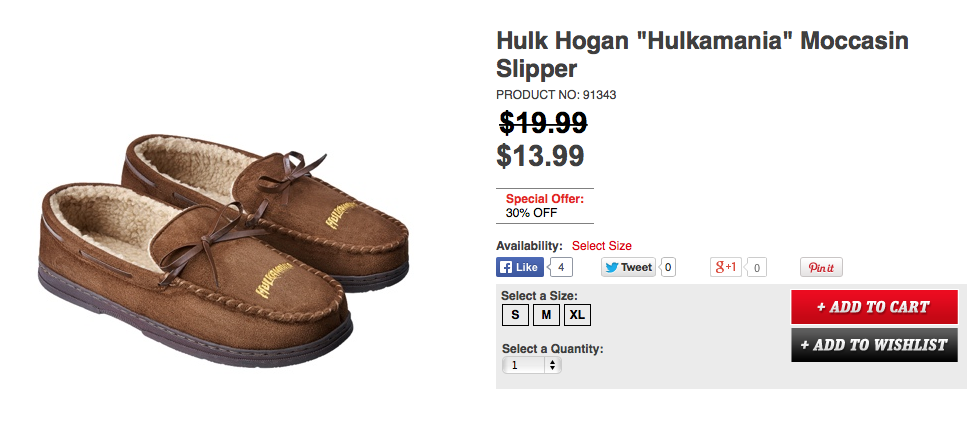 Hulk Hogan Moccasin shoes