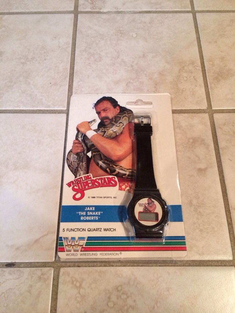 WWF Jake The Snake Roberts wristwatch watch 2nd 1