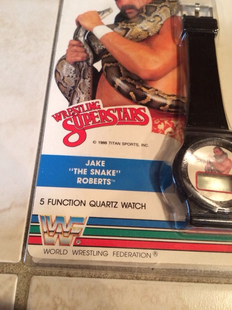 WWF Jake The Snake Roberts wristwatch watch 2nd 2