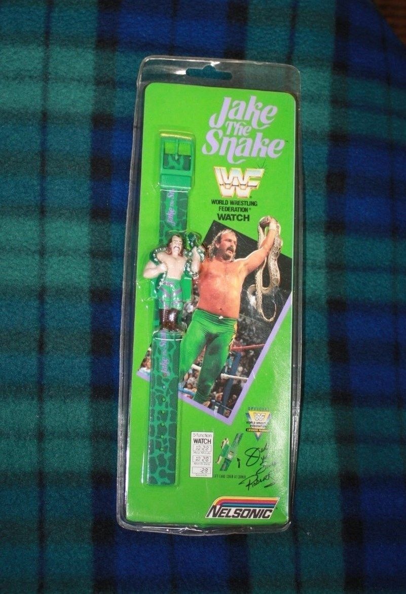 WWF Jake The Snake Roberts wristwatch watch