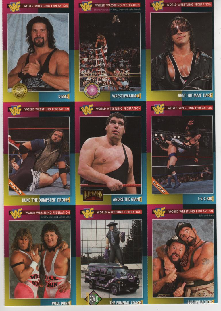 WWF Magazine trading cards Undertaker balloon Funeral coach hearse