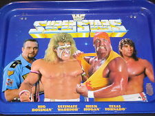 WWF Superstars Snack Tray TV Tray Big Bossman Hulk Hogan Ultimate Warrior Texas Tornado