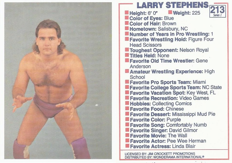 NWA Larry Stephens trading card