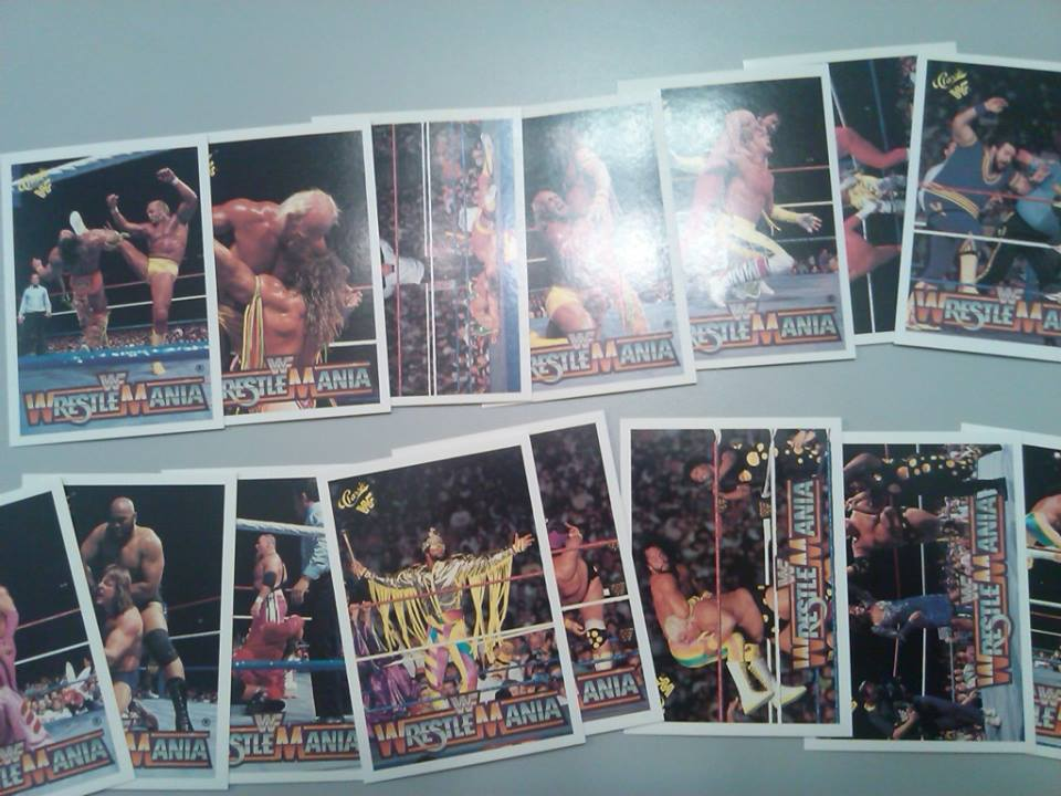 WWF History Of Wrestlemania trading cards 2
