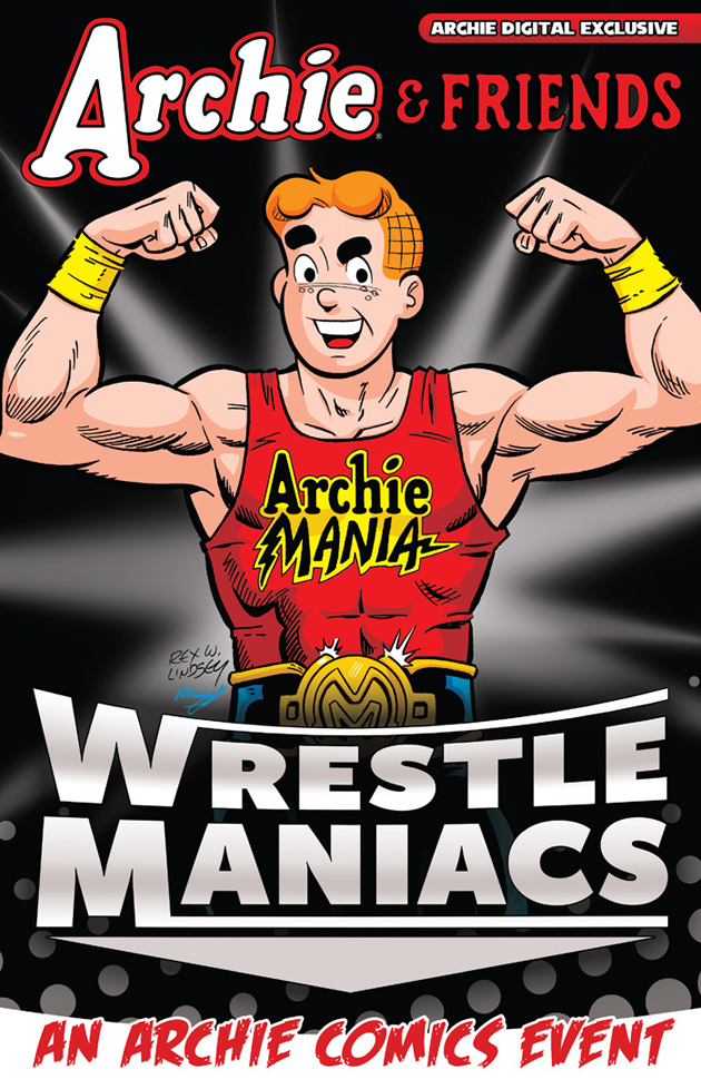 Archie Wrestling comic book cover