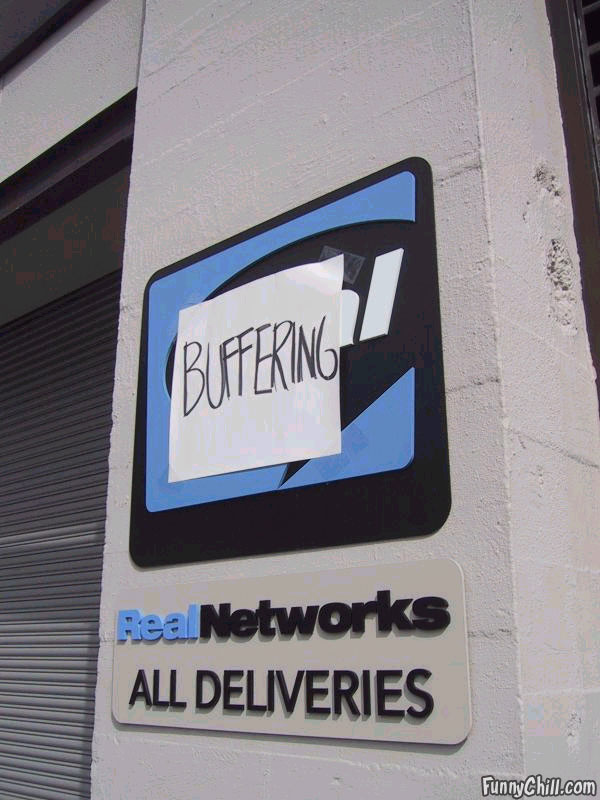 Real Audio Buffering sign