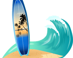 Surfboard wave beach thumbnail