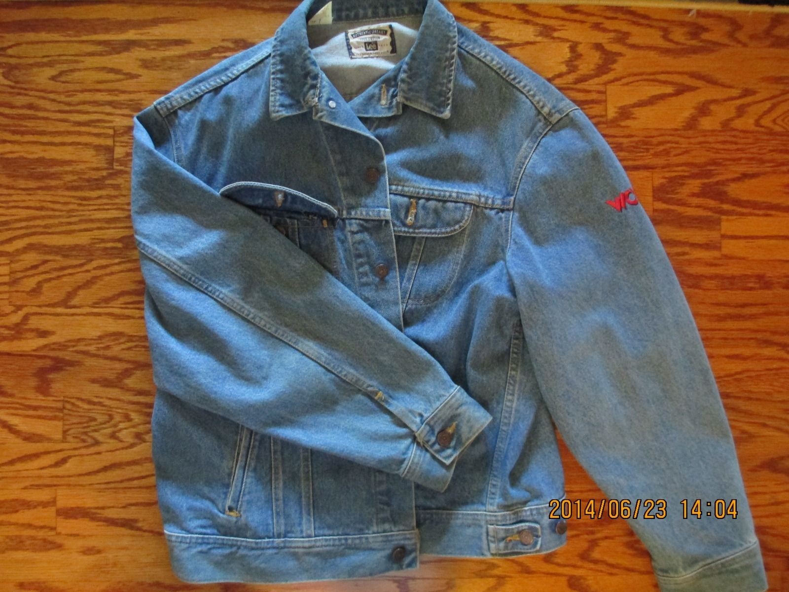 WCW Monday Nitro denim jean jacket front