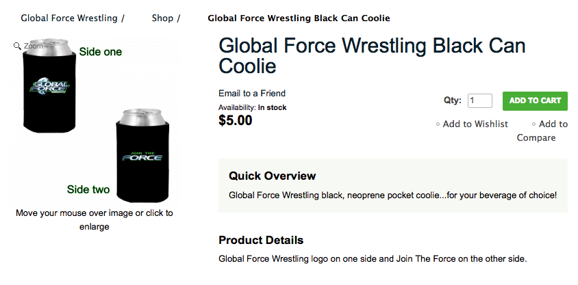Global Force Wrestling Can Coolie