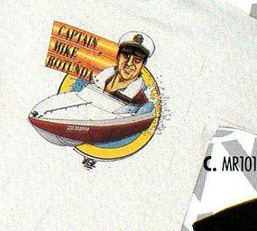 WCW Captain Mike shirt close up