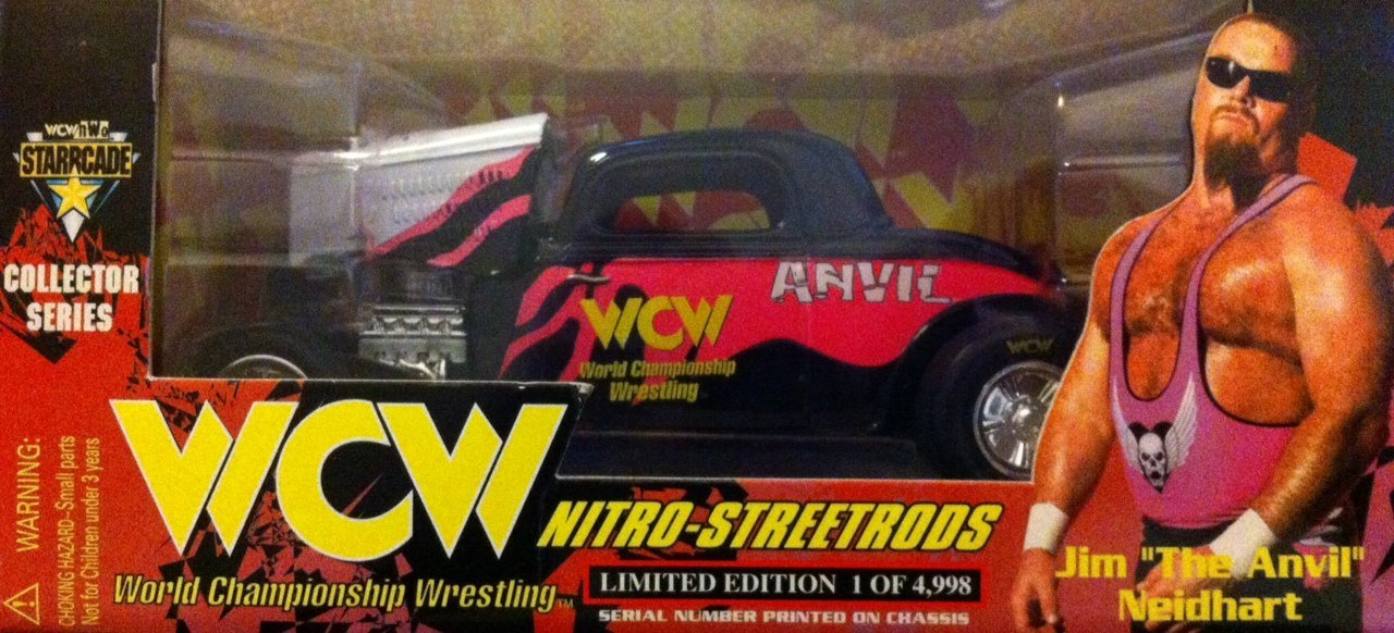 WCW Jim The Anvil Neidhart car toy