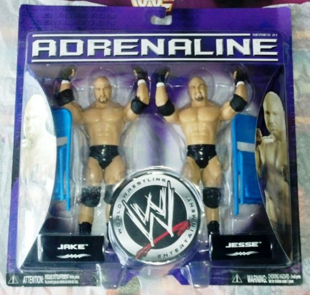 WWE Gymini Twins Jake and Jesse figures