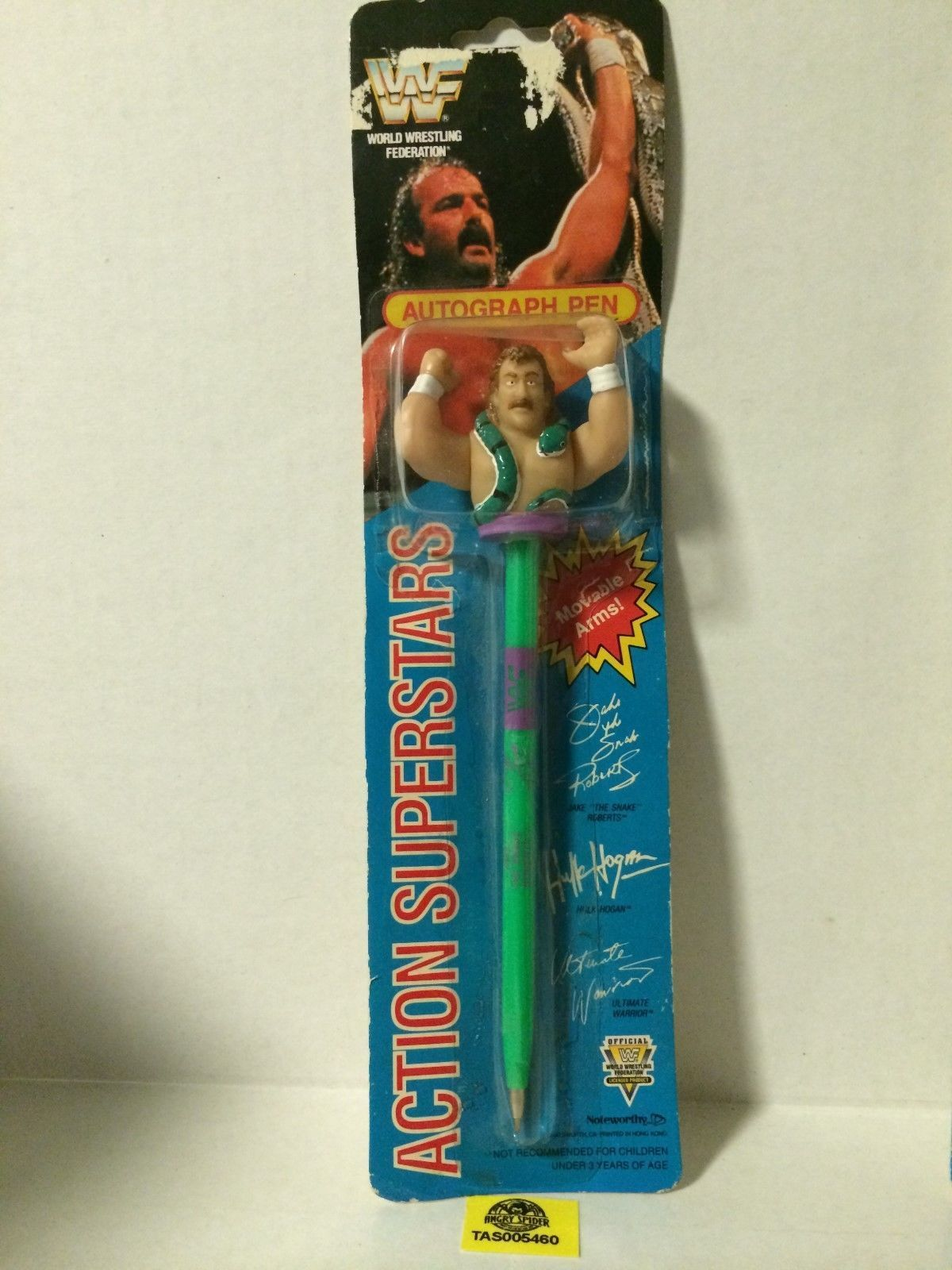 WWF Jake The Snake Roberts autogrpah action pen