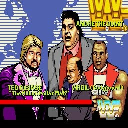 WWF Superstars Andre The Giant Ted DiBiase Virgil