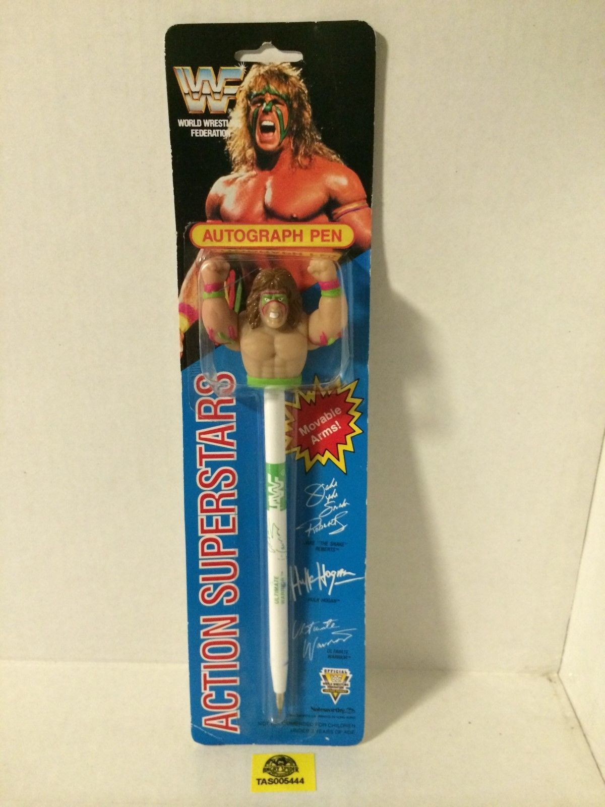WWF Ultimate Warrior autograph action pen