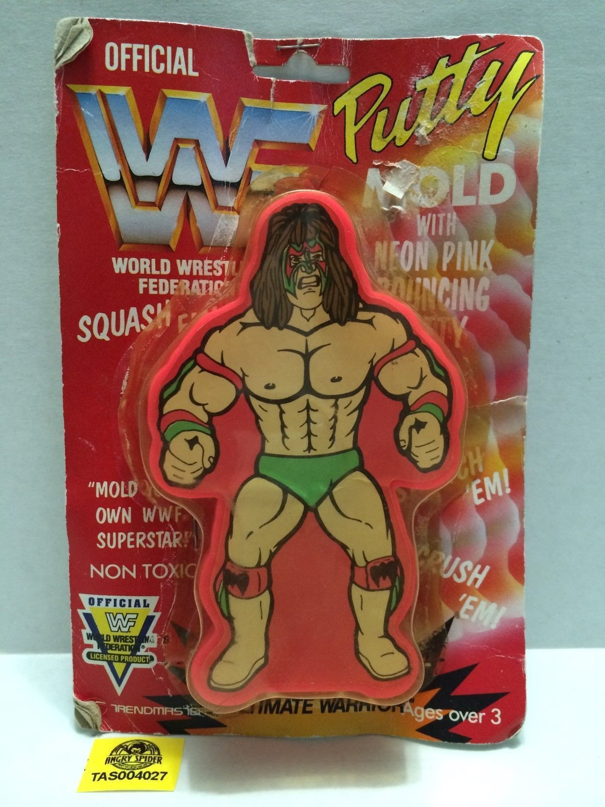 WWF Ultimate Warrior putty mold