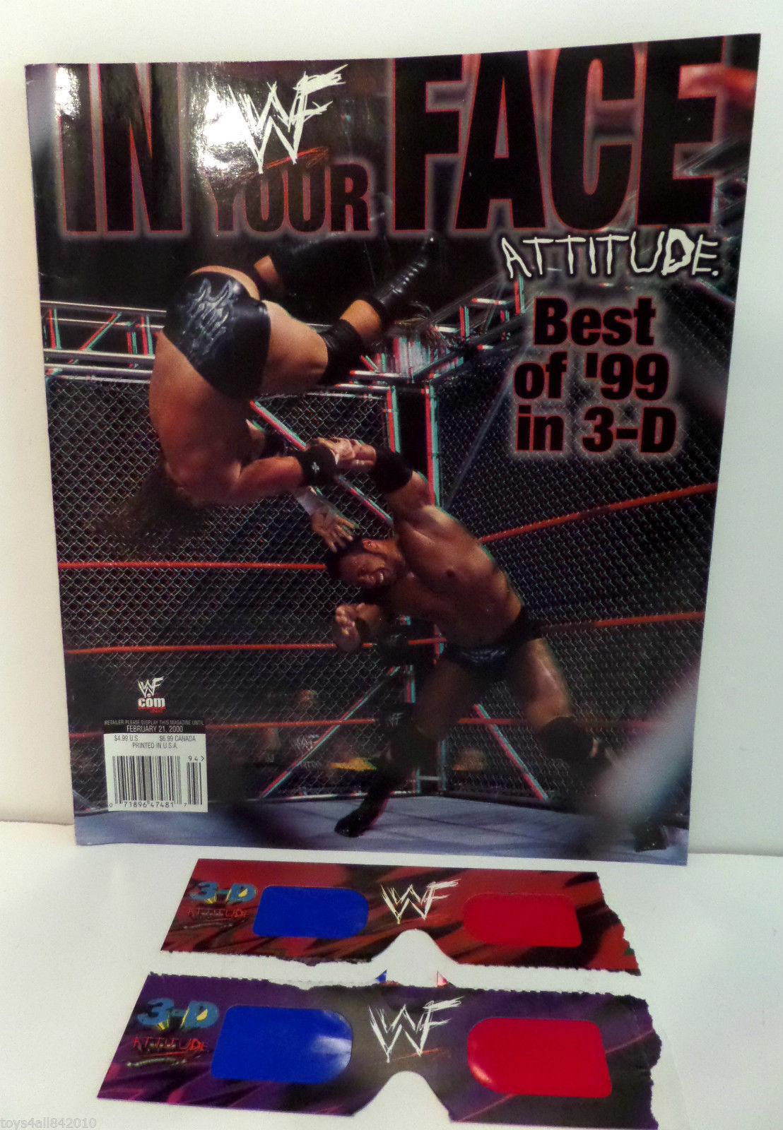 WWF In Your Face Attitude 3-D Magazine 1999 1