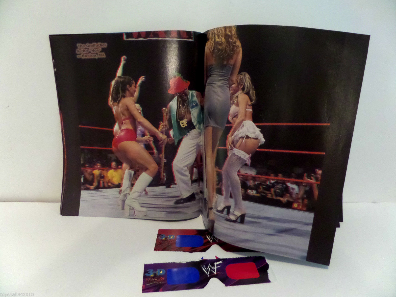 WWF In Your Face Attitude 3-D Magazine 1999 3