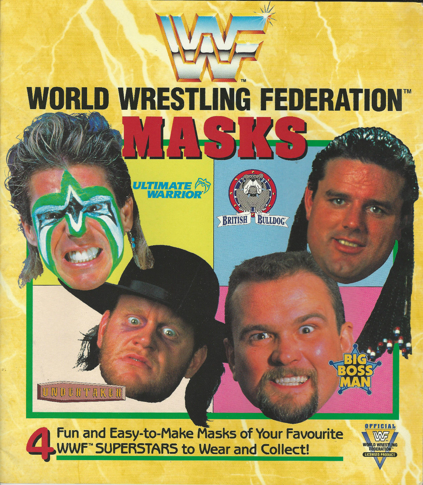 WWF Masks Mask Book 1991 1