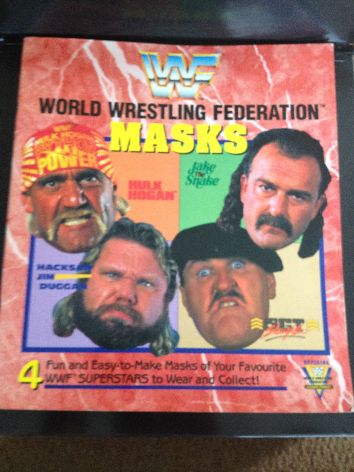 WWF Masks Mask Book 1991 2