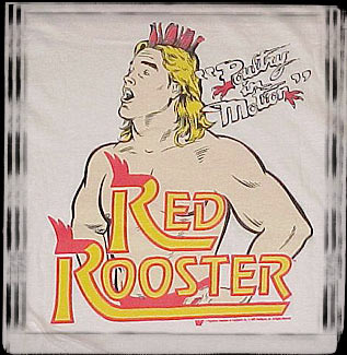 WWF Red Rooster Poultry In Motion Terry Taylor shirt