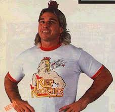 WWF Red Rooster Poultry In Motion Terry Taylor wearing shirt